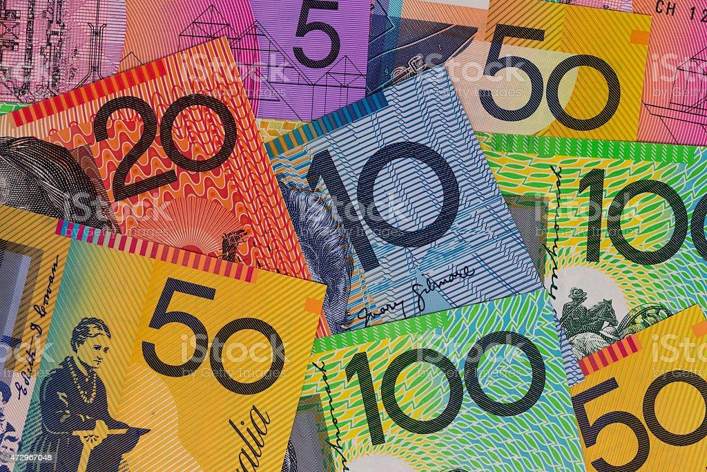 Australian Currency - Australian Notes stock photo