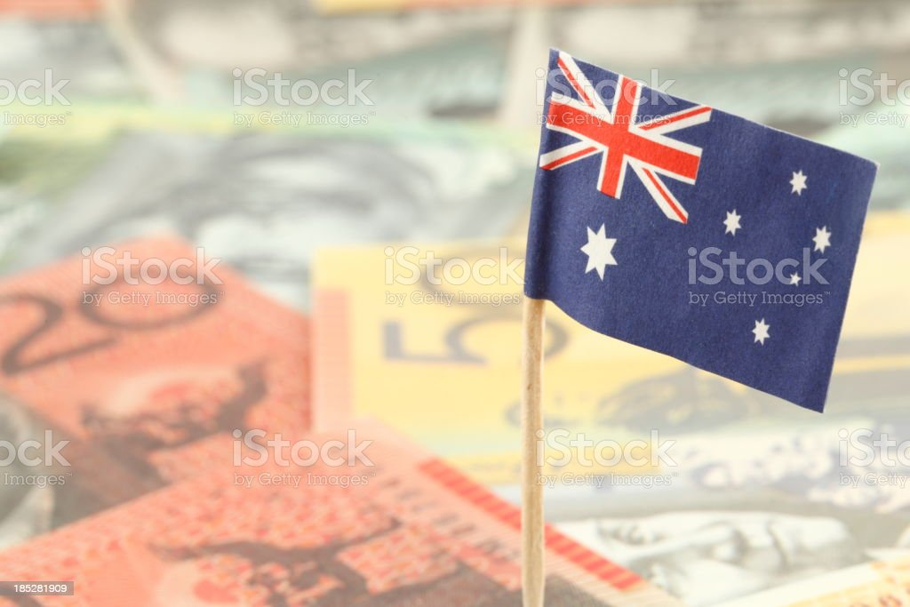 Australian Currency Background royalty-free stock photo