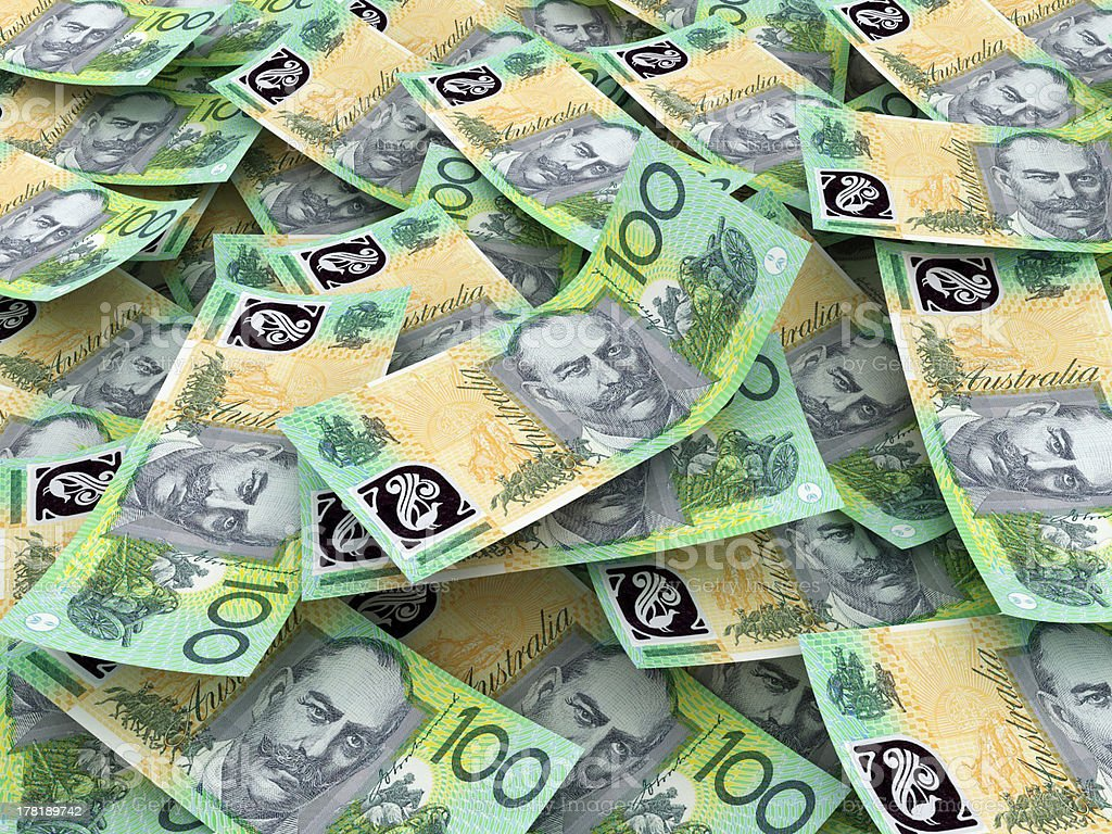 Australian Currency Close-up. royalty-free stock photo