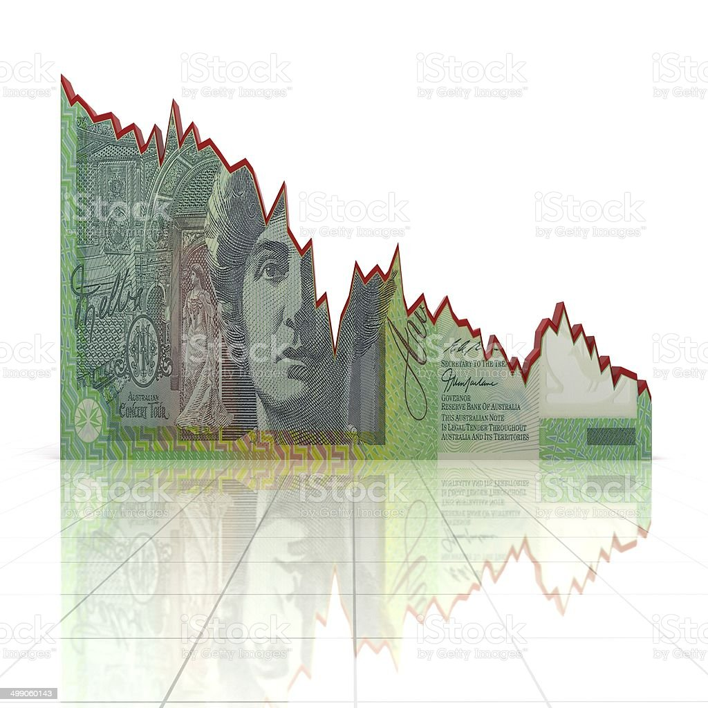 Australian Currency Graph stock photo