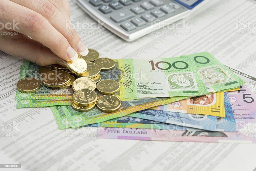 Moeda Australiana foto royalty-free