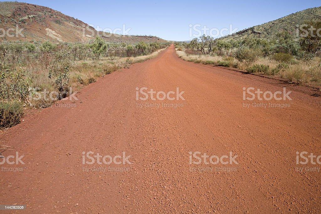 Australian Dirt Road royalty-free stock photo