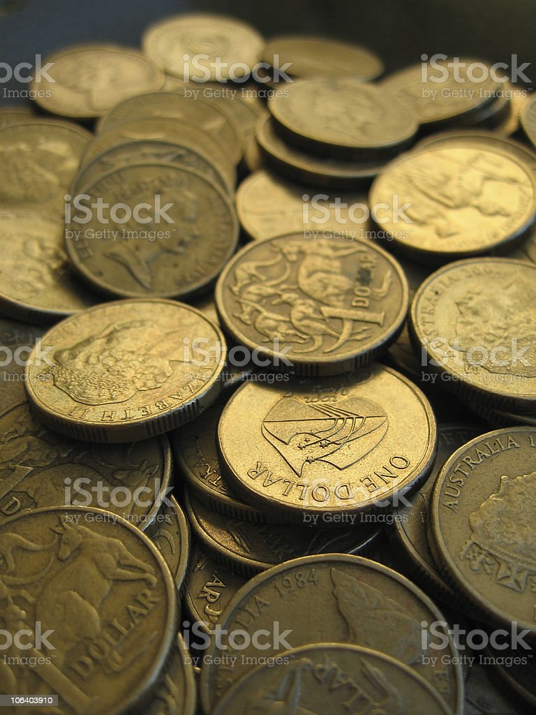 Australian Dollar 3 stock photo