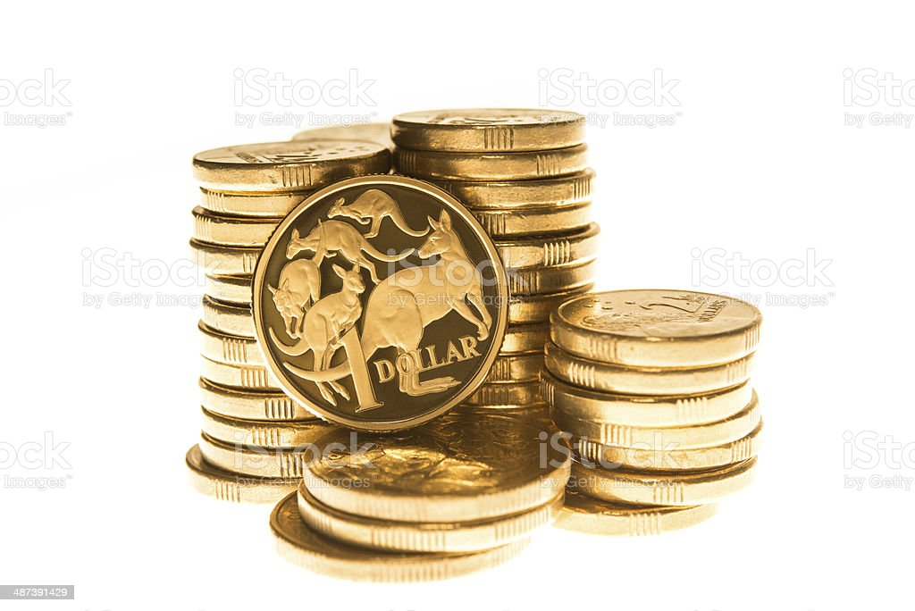 Dólar australiano moedas foto royalty-free