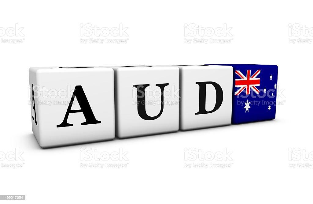 Aud Australian Dollar Currency Of Australia Stock Photo 499017654