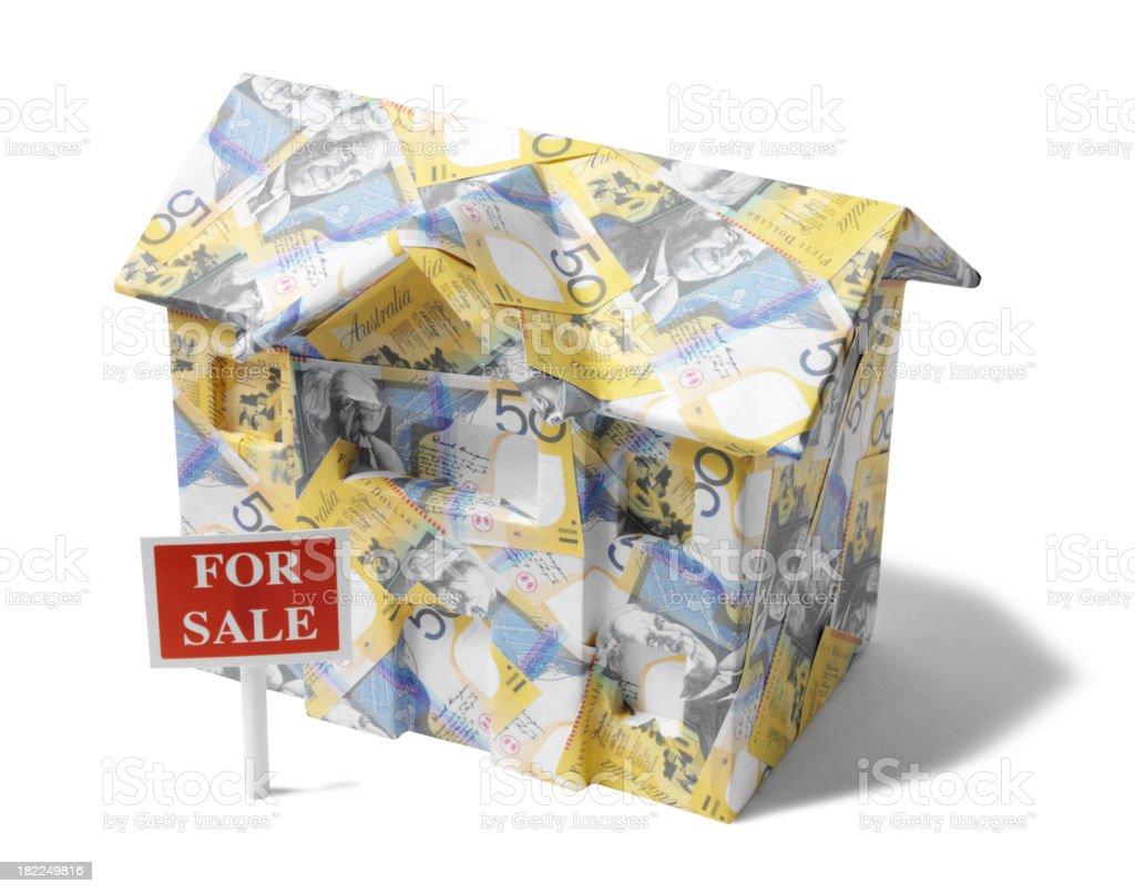 Australian Dollar House For Sale stock photo