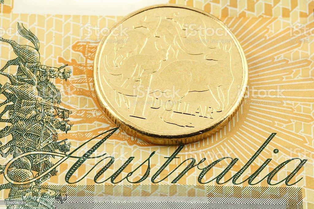 Australian Dollar royalty-free stock photo