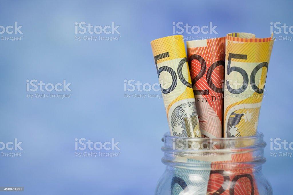 Australian Dollar Savings stock photo