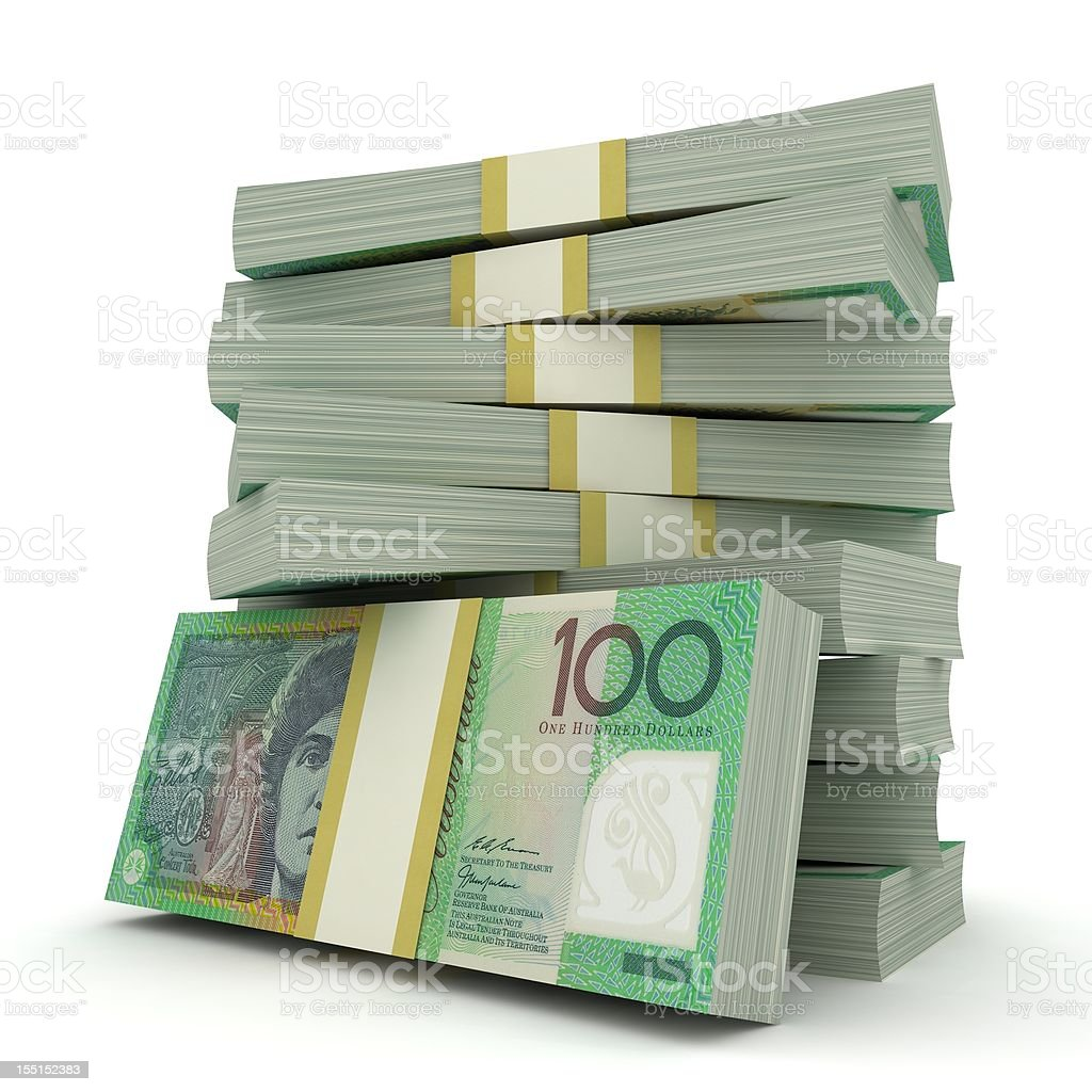 Australian Dollars royalty-free stock photo