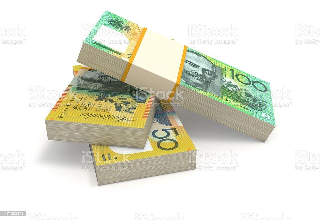 Australian Dollars royalty-free stock photo