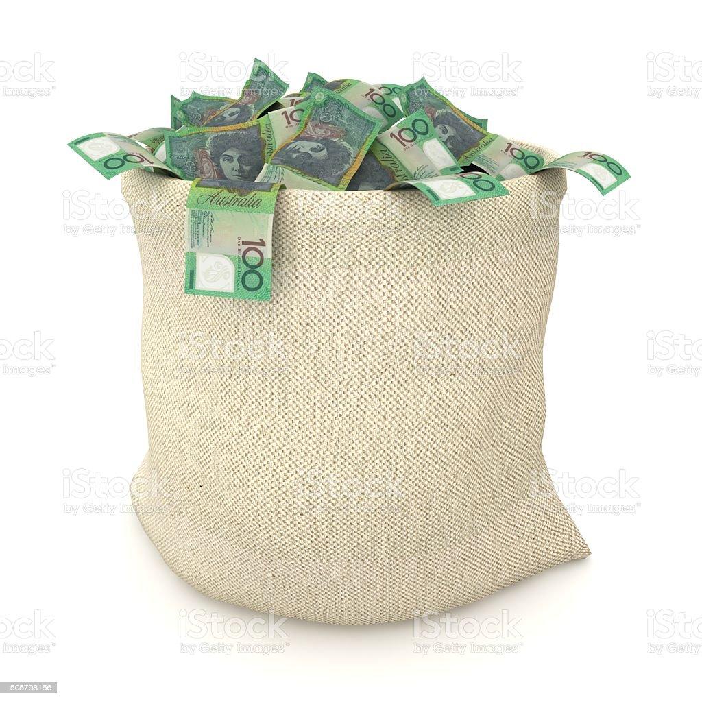 Australian dollars stock photo