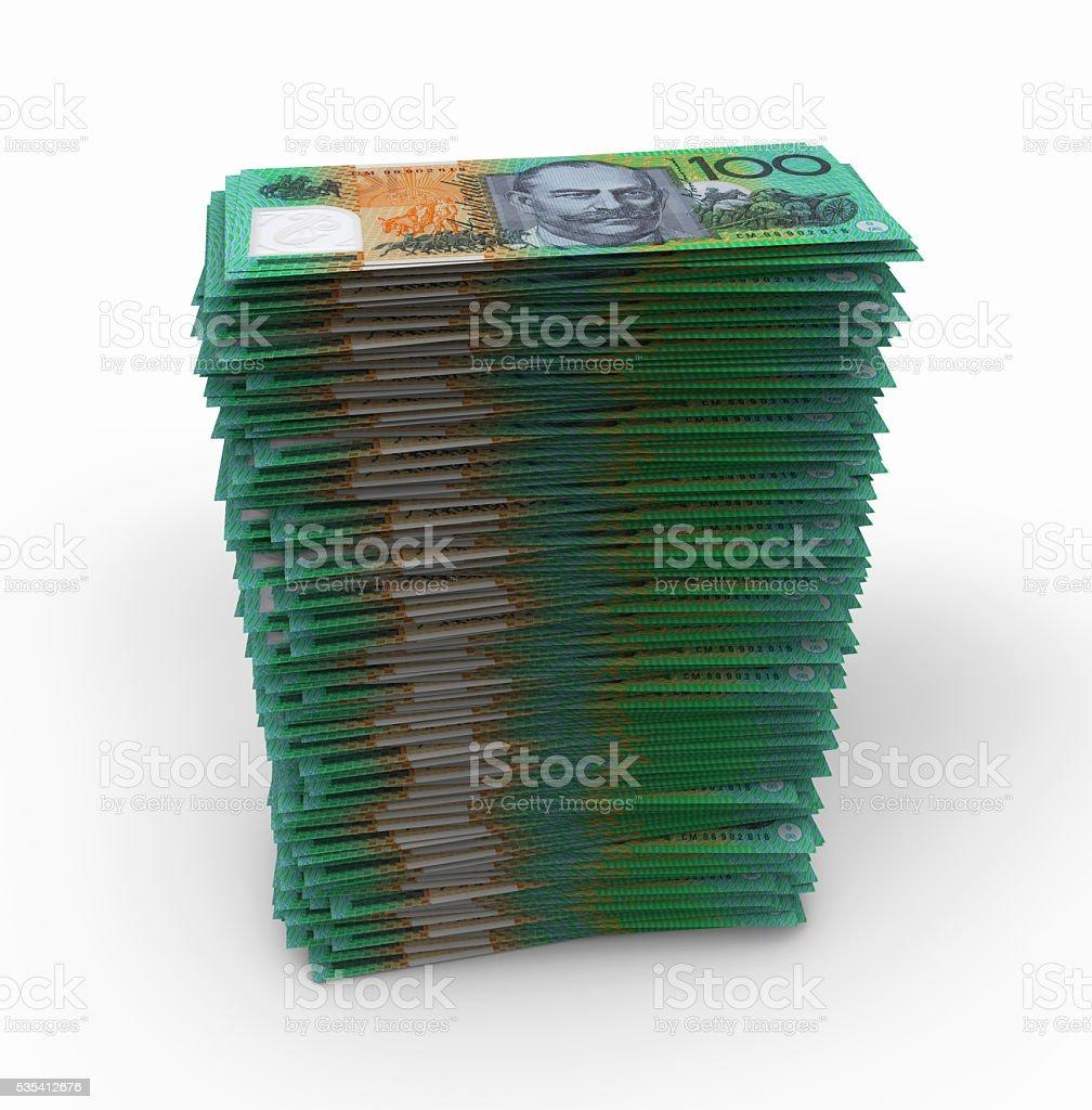 Australian Dollars Stack stock photo