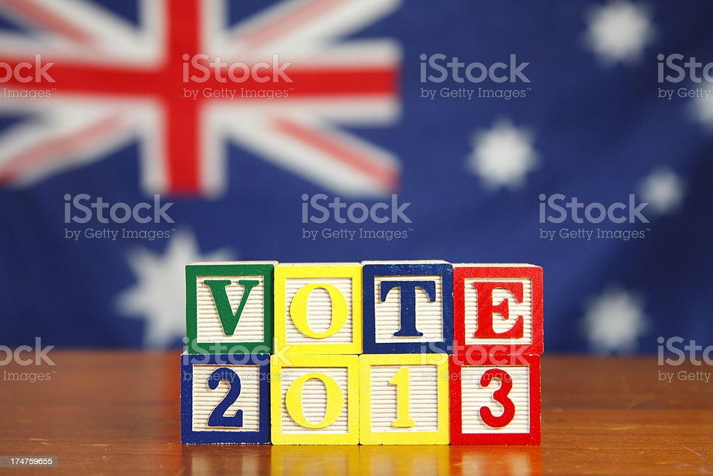 Australian Election royalty-free stock photo