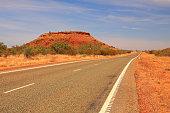 Australian endless outback road