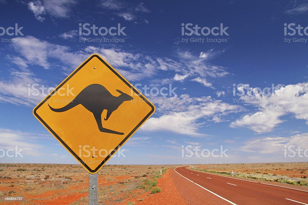 Australian endless roads stock photo