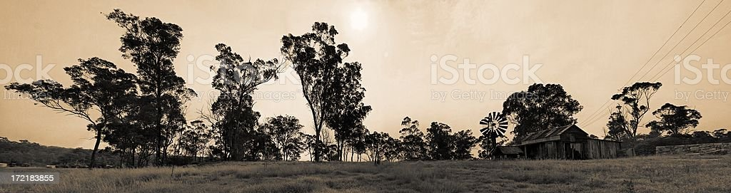 Australian farm royalty-free stock photo