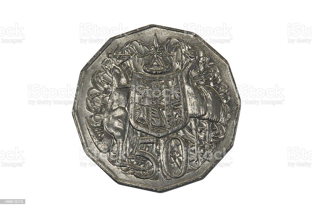 Australian Fifty Cent Coin stock photo