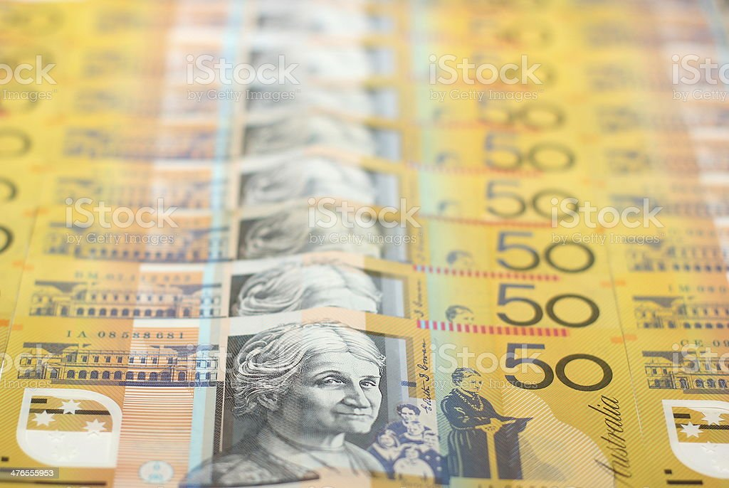 Australian Fifty Dollar Currency Note royalty-free stock photo
