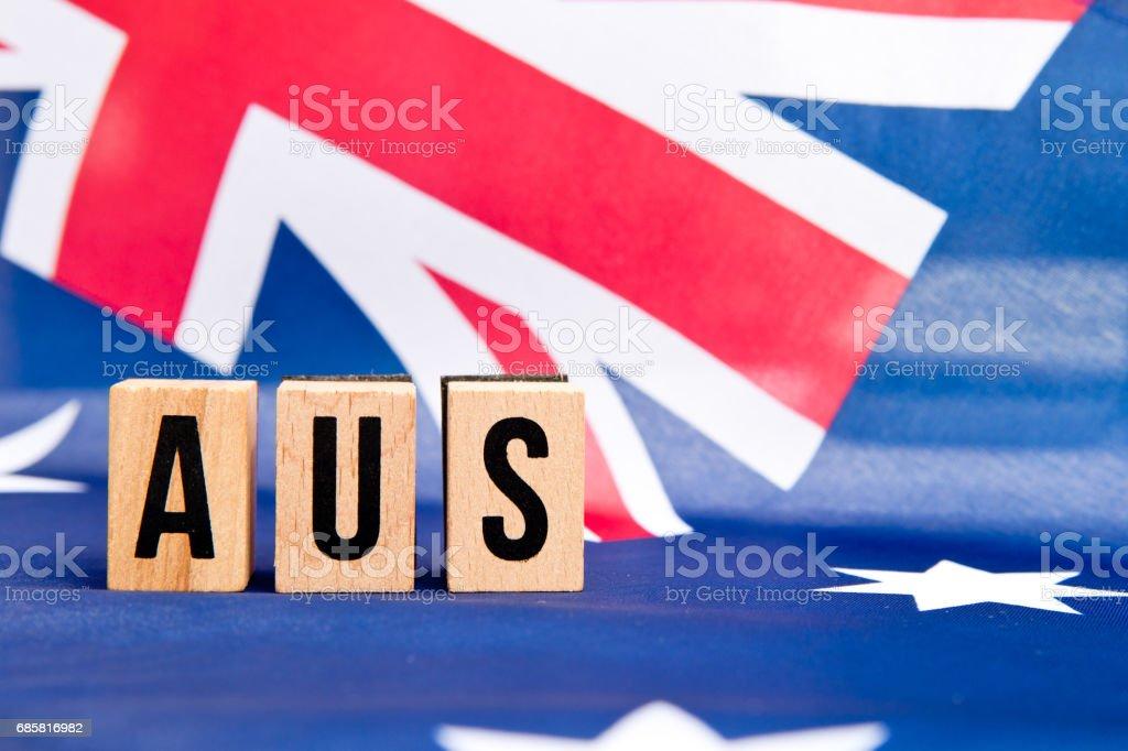 Australian Flag - Aus stock photo