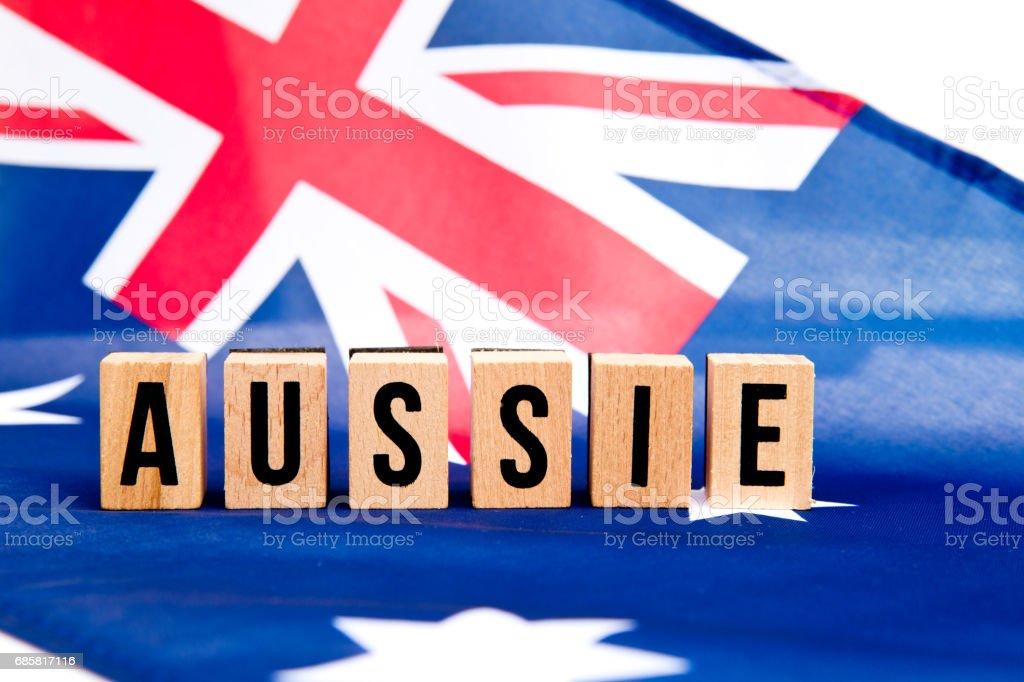 Australian Flag - Aussie stock photo