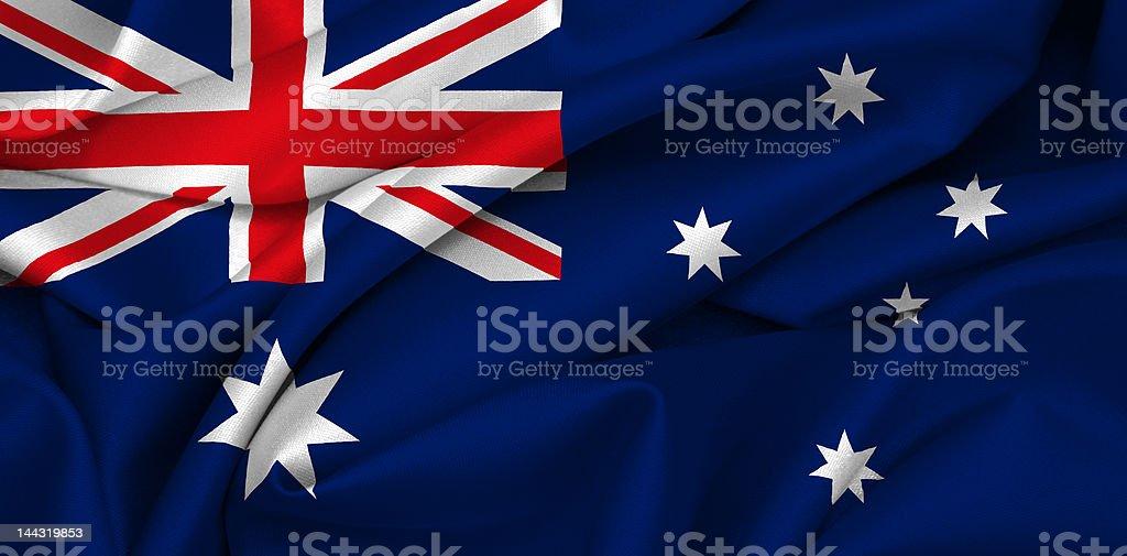 Australian flag - Australia royalty-free stock photo
