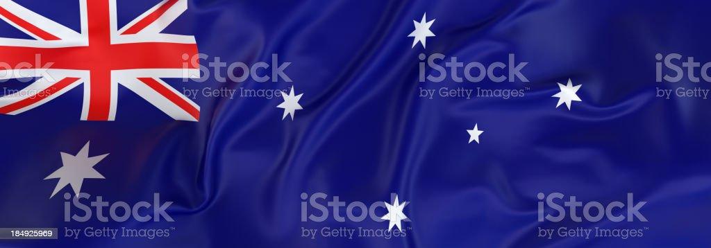 Australian Flag banner stock photo