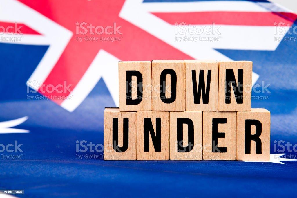 Australian Flag - Down Under stock photo