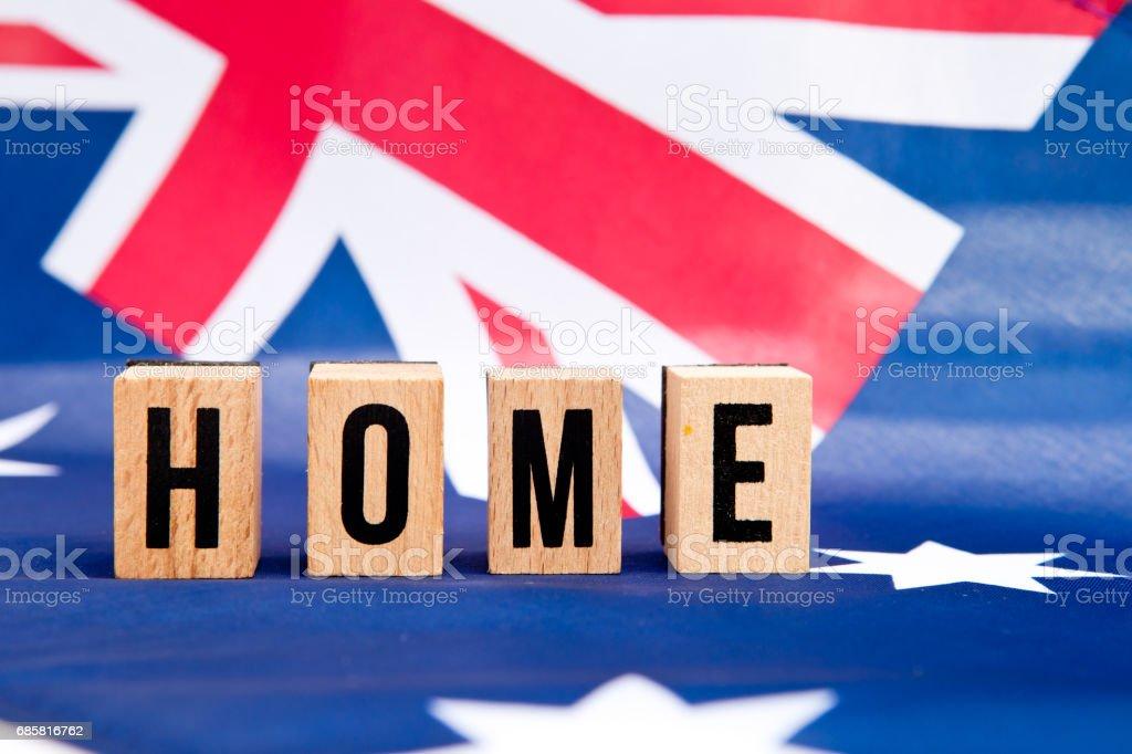Australian Flag - Home stock photo