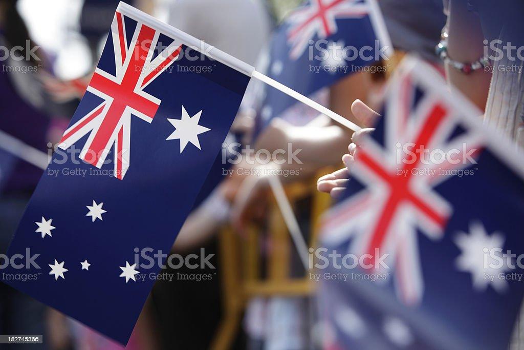 Australian Flag March stock photo