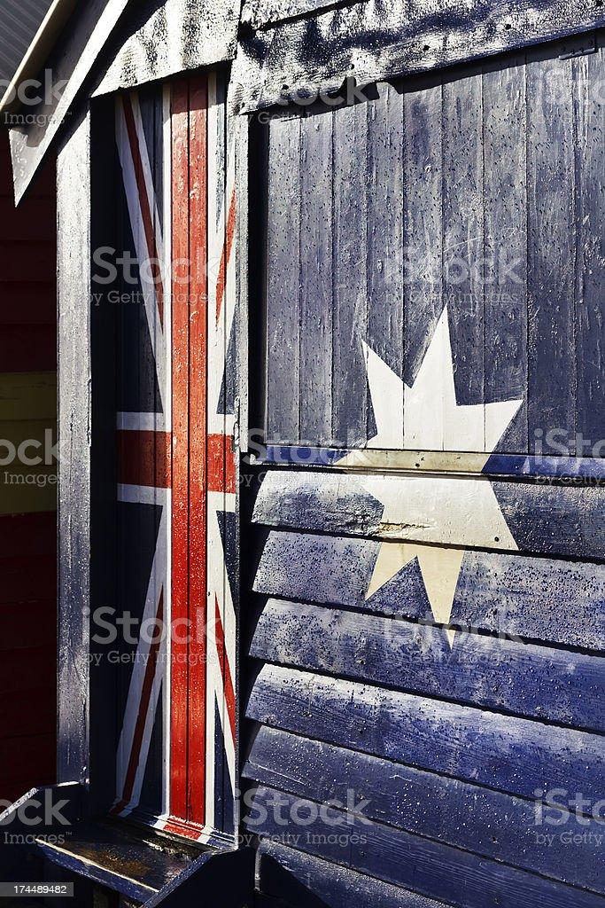 Australian flag on a door royalty-free stock photo