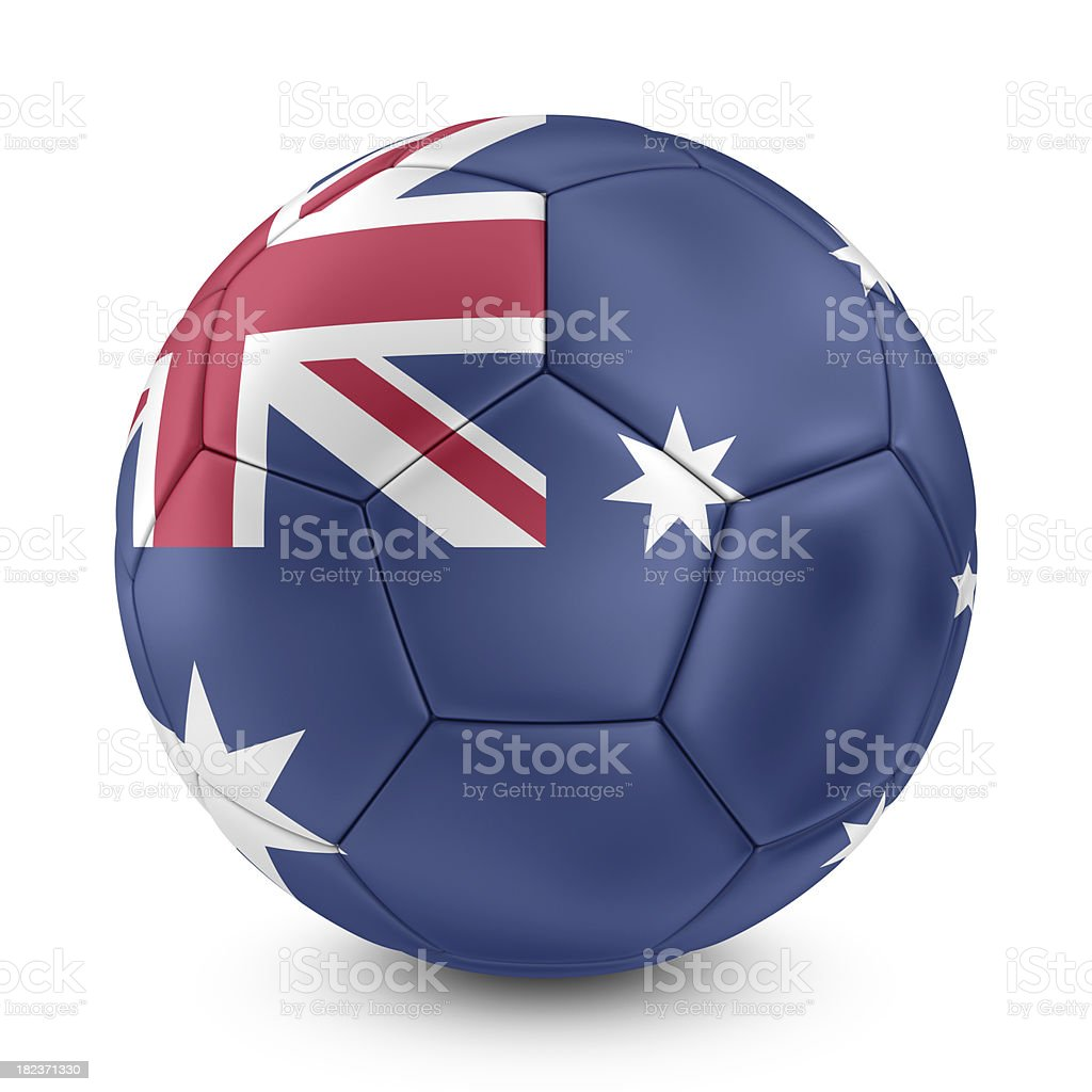 australian flag on football royalty-free stock photo