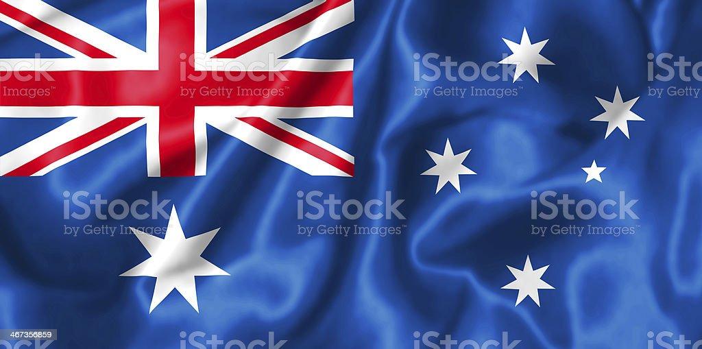 Australian flag. royalty-free stock photo