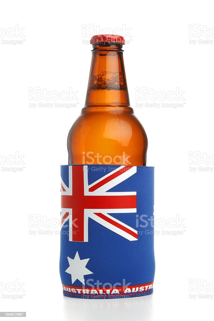Australian Flag Stubby Holder stock photo