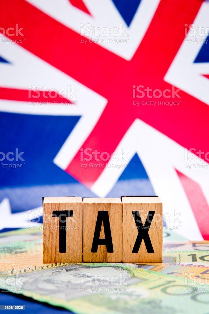 Australian Flag - Tax stock photo
