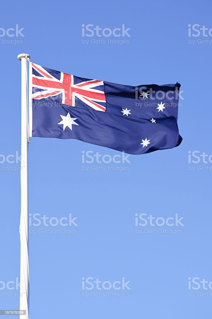 Australian Flag - Vertical royalty-free stock photo