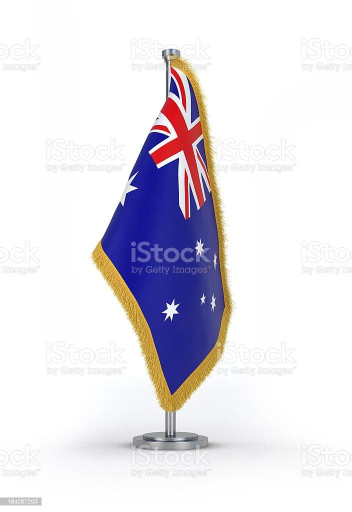 Australian Flag with golden Fringe stock photo