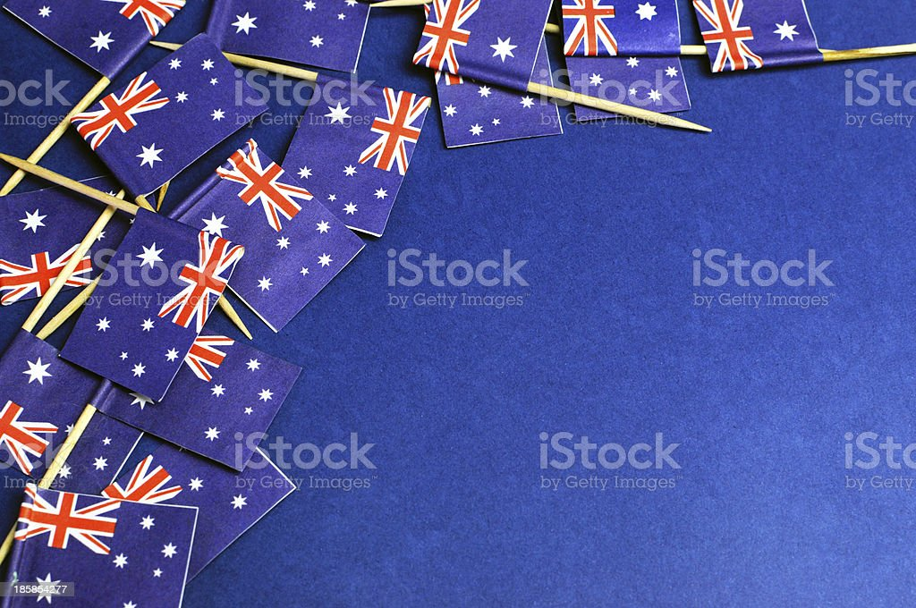 Australian flags background with copy space. stock photo