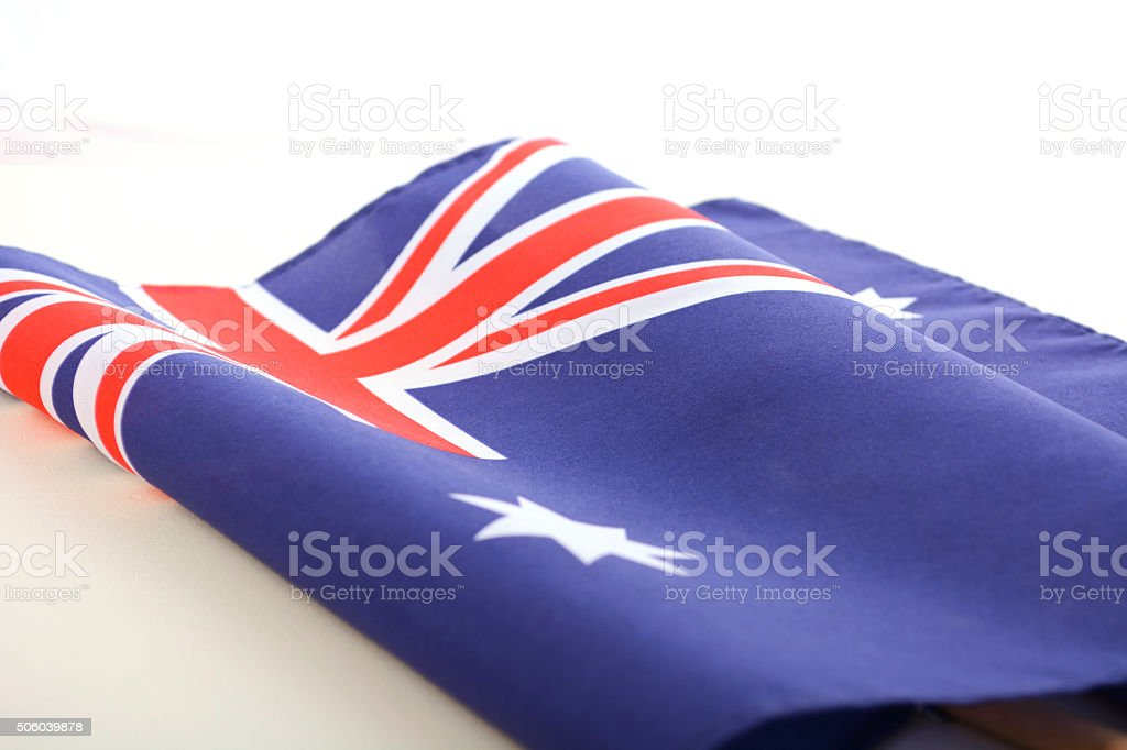Australian Folded Flag stock photo
