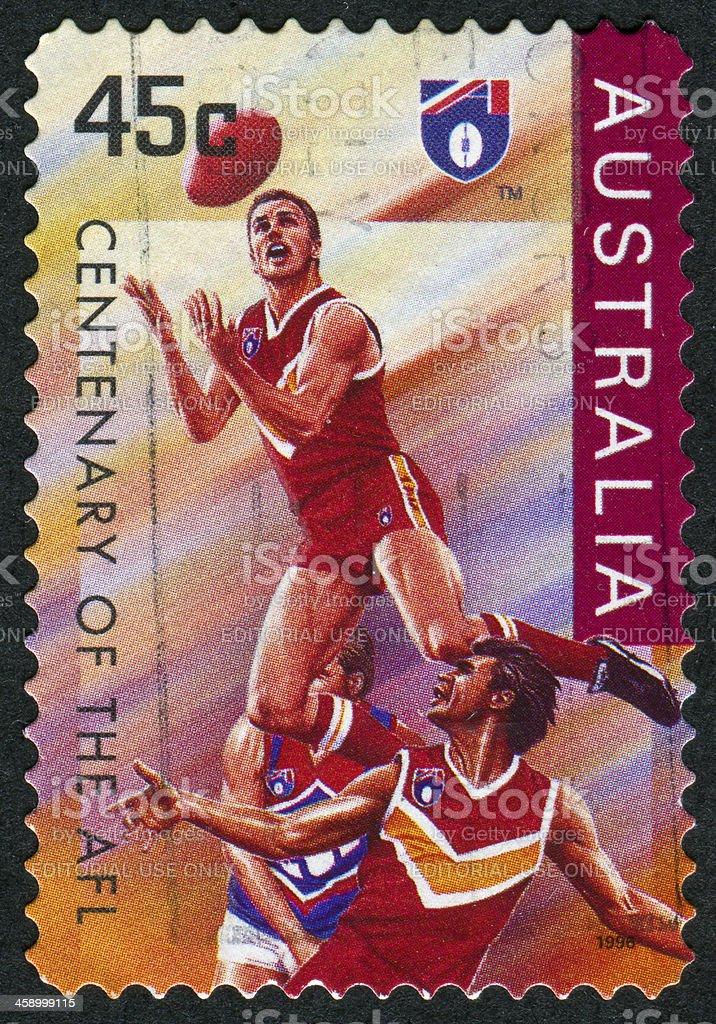 Australian Football League Stamp stock photo