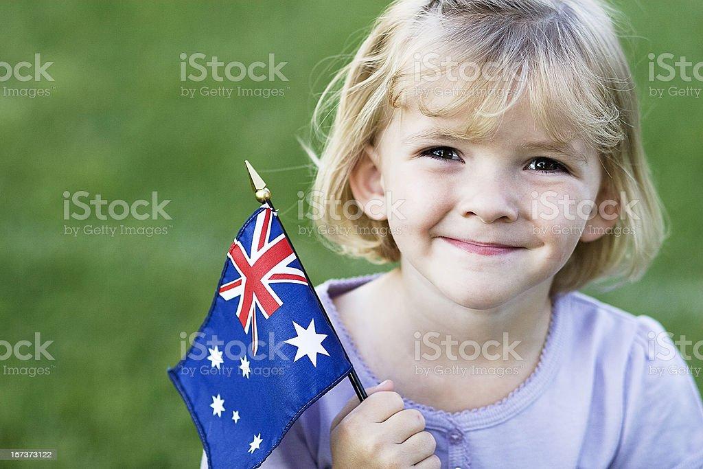 Australian Girl stock photo