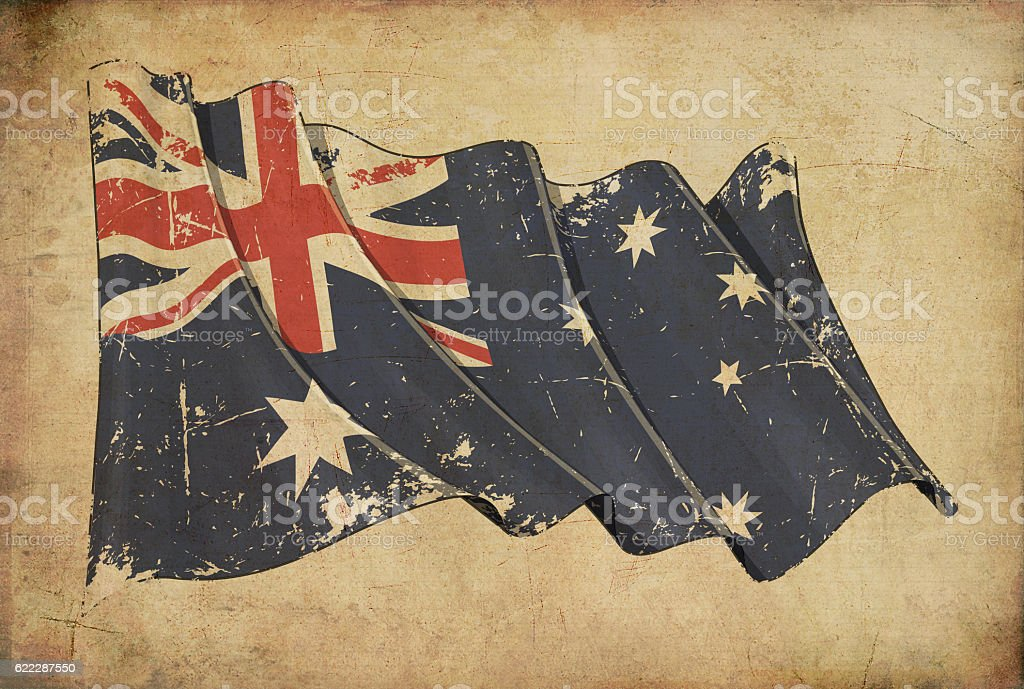 Australian Grunge Flag Textured Background Wallpaper stock photo