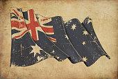 Australian Grunge Flag Textured Background Wallpaper