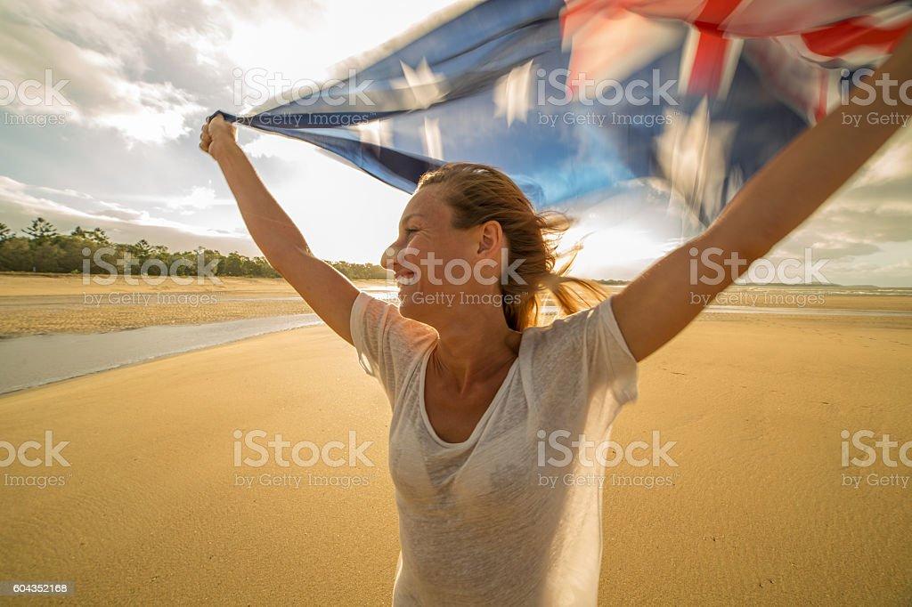 Australian happiness stock photo