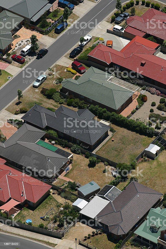 Australian housing aerial royalty-free stock photo
