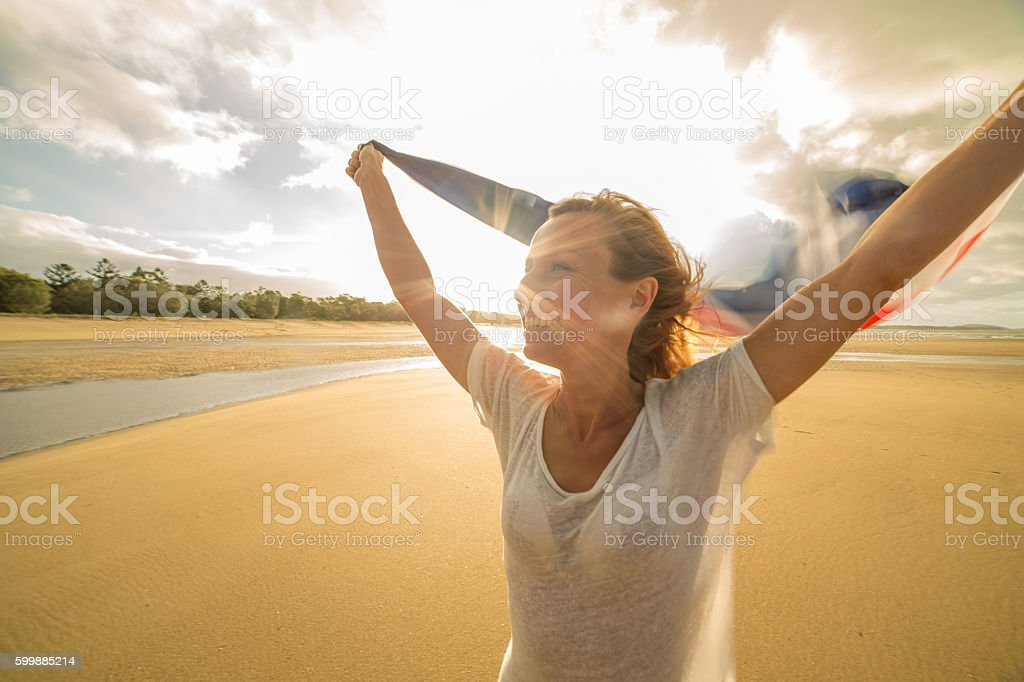 Australian joy stock photo