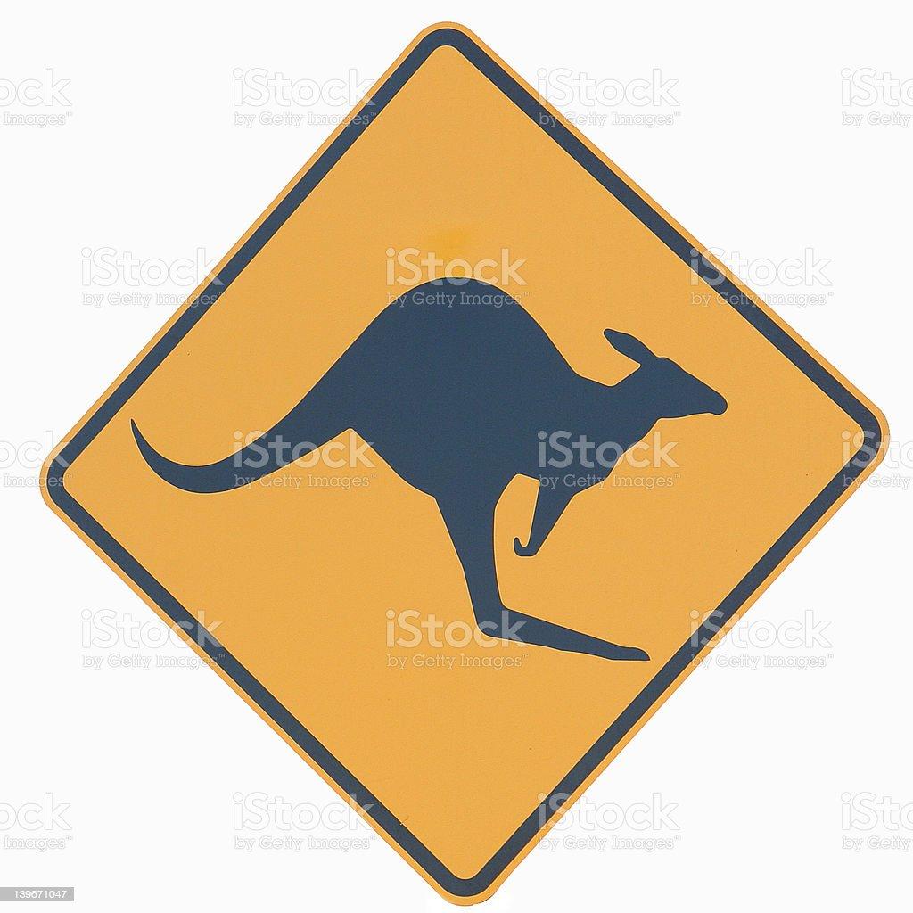 Australian Kangaroo Sign royalty-free stock photo
