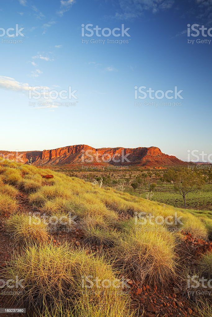 Australian landscape in Purnululu National Park, Western Australia at sunset royalty-free stock photo