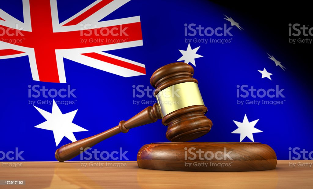 Australian Law And Justice Concept stock photo