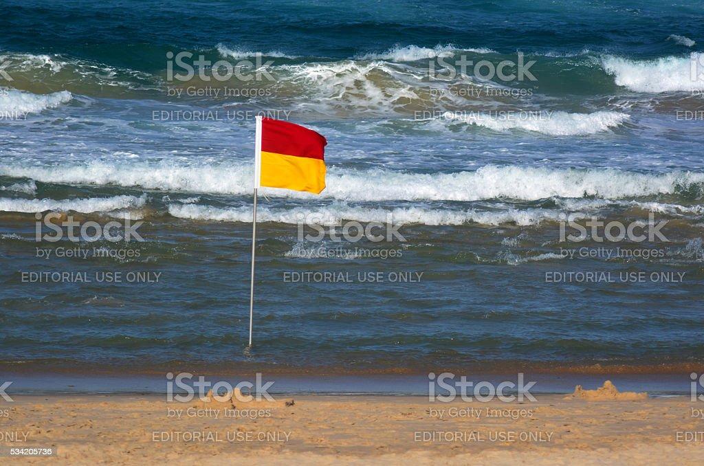 Australian Lifeguards in Gold Coast Queensland Australia stock photo