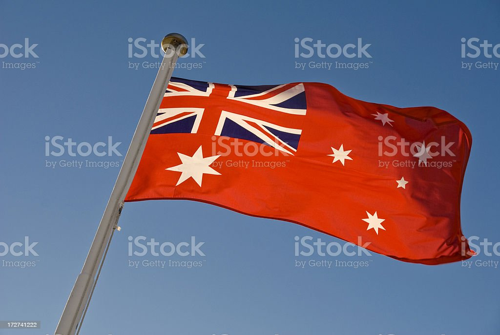 Australian Maritime Flag stock photo